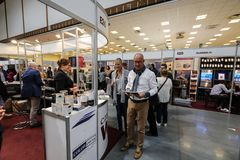 International Wine Trade Fair ENOEXPO in Cracow. Producers of wine from all around the world meet the importers distributors and representatives. Cracow Stock Photography