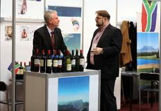 International Wine Trade Fair ENOEXPO in Cracow. Producers of wine from all around the world meet the importers distributors and representatives. Cracow Royalty Free Stock Photo