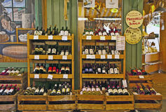 International wines on display at Viktualien markt, Munich Royalty Free Stock Image