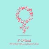 International woman day background Royalty Free Stock Image