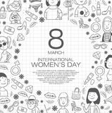 International woman`s day stock illustration