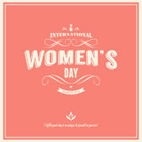 International womans day-March 8th royalty free illustration