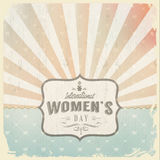 International womans day with vintage backgroun stock illustration