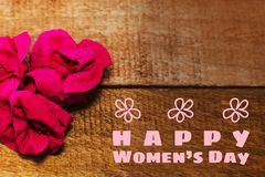 International women day. Greeting card.  royalty free stock image