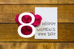 International women day. Greeting card.  stock illustration
