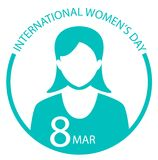 International Women Day sign logo. International Women Day sign symbol logo on white background Stock Illustration