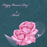 International Women`s Day card Stock Photo