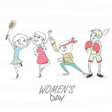 International Women's Day celebration concept. Royalty Free Stock Image