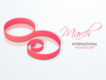 International Womens Day celebration with creative text. Stock Photography
