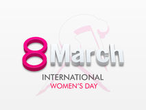 International Womens Day celebration with 3D text. Stock Photos