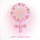 International Women's Day celebration with female symbol. Stock Photo