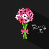 International Women's Day celebration with flower bouquet. Royalty Free Stock Images