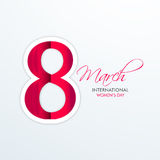 International Womens Day celebration with glossy text. Stock Photo