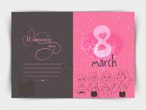 International Women's Day celebration greeting card. Royalty Free Stock Photo