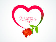 International Womens Day celebration with heart and flower. Royalty Free Stock Photos
