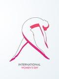 International Women's Day celebration with a lady. Stock Image
