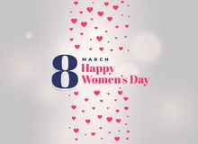 International women`s day celebration poster design. Illustration Stock Photos