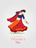 International Women's Day celebration with young girl. Royalty Free Stock Images