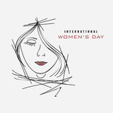 International Women's Day celebration with young girl. Royalty Free Stock Photo