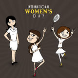 International Womens Day celebration with young girls. Royalty Free Stock Photos