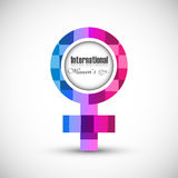 International women's day design element colorful Stock Images