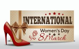International Women`s Day design. 8 March. Greeting card for Women`s Day. Vector illustration royalty free illustration