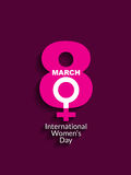 International Women's Day elegant card Stock Photography
