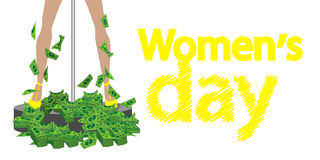 International Women`s Day. feminism Stock Images