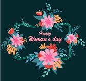 International Women`s Day. March 8 royalty free illustration