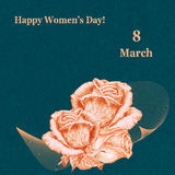 International Women`s Day greeting card Stock Photos