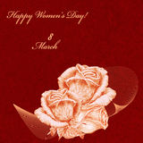 International Women`s Day greeting card Royalty Free Stock Photography