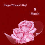 International Women`s Day greeting card Stock Images