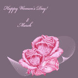 International Women`s Day greeting card Royalty Free Stock Images