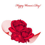 International Women`s Day greeting card Royalty Free Stock Image