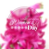 International Women's Day greeting card Stock Photo