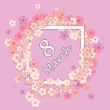 International Women`s Day. The Holiday of All Women on March 8.  Stock Images