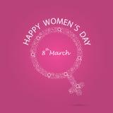 International women`s day icon.Women`s day symbol.Minimalistic d Royalty Free Stock Image