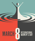 International Women's Day March 8, 2016. Banner design Royalty Free Stock Photo