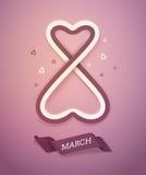 International Women's Day. March 8, eps 10 royalty free illustration