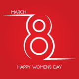 International Women's Day. March 8. International Women's Day greeting card for your design Stock Photography