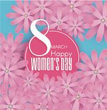 International Women`s Day  8 March. International Women`s Day  8 March Flower abstract design background. Vector illustration Royalty Free Stock Photos