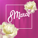 The international women's day on March, 8th greeting card, simple floral design Royalty Free Stock Photography
