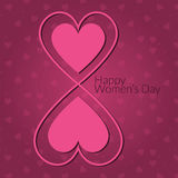 The international women's day on March 8th, Happy Women's Day greeting card or background Stock Image