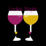 International women`s day optical vector concept, ladies night invitation Royalty Free Stock Images
