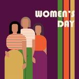 International Women`s Day postcard vector illustration