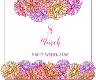 International women`s day poster. Happy Mother`s Day. Eps10 vector illustration with place for your text. International women`s day poster. Eps10 vector Stock Photo