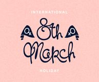 International Women`s Day. 8 th March. International Women`s Day. Spring season holiday template vector illustration