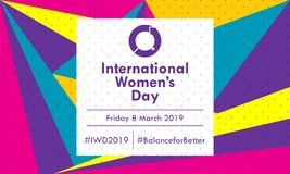 International Women`s Day 2019 - Vector royalty free stock images