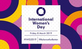 International Women`s Day 2019 - Vector royalty free illustration