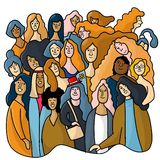 International Women`s Day. Vector template with for card, poster, flyer and other users - Vector. International Women`s Day. Vector template with for card royalty free illustration